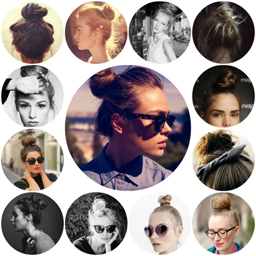 collage top knots